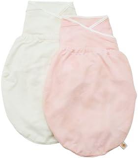 美国ErgobabySwaddler婴儿宝宝高档纯棉睡袋新生儿包巾抱被-粉红色/米白色(M/L) SWD1PNKNATMNL