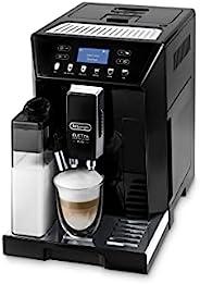 De'Longhi 德龙 Eletta Evo ECAM 46.860.B 全自动咖啡机 带奶泡系统,一键式制备卡布奇诺及意式浓缩(Espresso),LCD显示屏和传感器触摸按钮,黑色