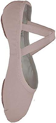 Bloch Dance 女式 Performa 弹力帆布分离式鞋底芭蕾舞鞋/拖鞋 戏剧粉红色 4 Wide