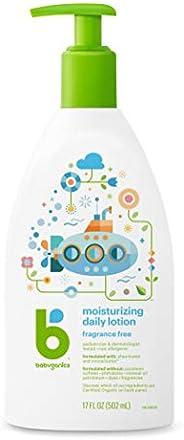 Babyganics 补水保湿乳液,无香料,17盎司/泵瓶(约481.94克),502毫升,2件装