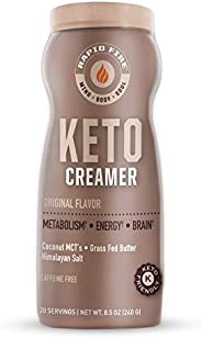 Rapid Fire Ketogenic Creamer for Coffee or Tea, Supports Energy and Metabolism, 8.5 oz