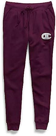 Champion 女士 Powerblend 慢跑裤,Oxford Grey Heather/Oatmeal,X-Small Powerblend Jogger