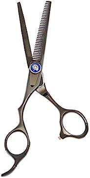 ShearsDirect 日式不锈钢左手 35 齿专业纤薄剪刀,黑色,2.5 盎司
