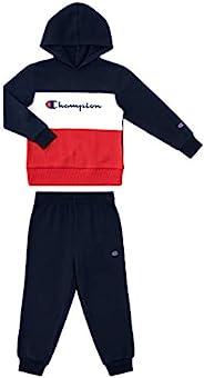 Champion Boys 新生婴儿两件套连帽羊毛裤运动套装