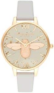 Olivia Burton 石英手表,带皮革表带 OB16GD37