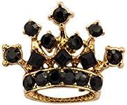 AN KINGPiiN 男士翻领别针皇家皇冠水晶徽章胸针西装钉男士配饰