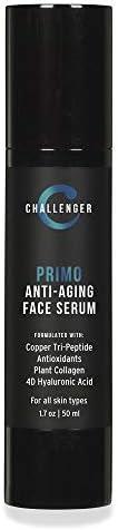 NEW Challenger Primo 男士*面部精华液 - 优质铜三肽* 含4D透明质酸 减少早龄点,深层皱纹,促进皮肤弹性 - 无香料