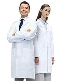 Lab Coat X 经典修身实验室外套,男女通用,40 英寸长外套,型号 X1,白色