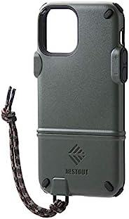 Elecom 宜丽客 iPhone 12 / 12 Pro 手机壳 混合 NESTOUT 橄榄绿 PM-A20BNEST1KH