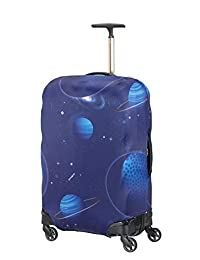 Samsonite Global Travel Accessories Lycra Luggage Cover M, Blue (Spaceman)