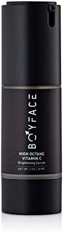 Boyface 维生素 C 男士亮肤精华   保湿面部精华   不含硫酸盐和防腐剂   1 盎司瓶装