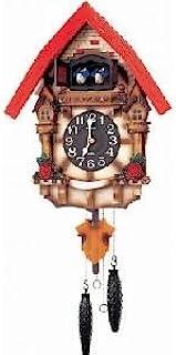 RHYTHM 手表 CUCO,木质,棕色和红色,32.3 x 54.5 x 16厘米