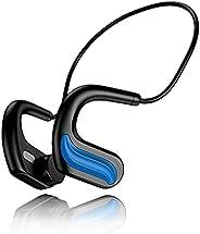 Bone Conduction 耳机游泳耳机蓝牙 IPX8 防水开放式耳机,带 32G 内存(蓝色)