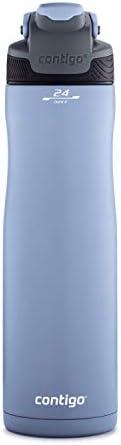 Contigo 自動封口冷水壺,24盎司/約0.71升,伯爵灰色