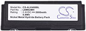 Cameron Sino 2000mAh Ni-MH 大容量替换电池适用于 Autec LK4、LK6、LK8,适合 Autec LBM02MH,ARB-LBM02M