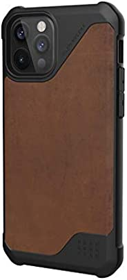 URBAN ARMOR GEAR iPhone 12/12 Pro(6.1) 2020對應耐沖擊殼 METROPOLIS LT LEATHER 棕色 【日本正規代理店商品】 UAG-IPH20MFL-LBR
