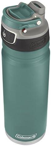 coleman freeflow autoseal water bottle 24oz 海綿藍色不銹鋼運動