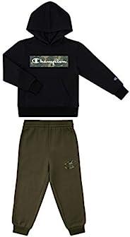 Champion Boys 新生嬰兒兩件套連帽羊毛褲運動套裝