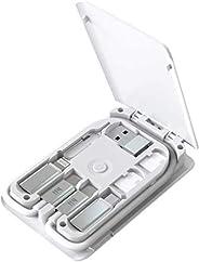 电缆卡,通用智能适配器卡存储盒,多合一充电电缆套件,带 15W 无线充电器,兼容 iPhone、Samsung 三星、Airpods、和其他 USB-C 设备