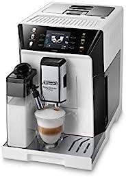 De'Longhi 德龙 PrimaDonna Class ECAM 550.65.W 全自动咖啡机 带牛奶系统 卡布奇诺和意式浓缩咖啡 3.5 英寸 TFT 彩色显示屏和应用程序控
