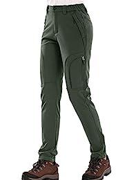 女士/男士户外冬季防水防风羊毛工装雪地滑雪登山裤狩猎 #5022