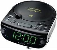 Sony 索尼 ICF-CD815 AM/FM 立体声 CD 时钟收音机,带双闹钟(制造商已停产)