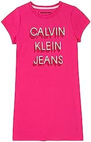CALVIN KLEIN 女童 T 恤连衣裙