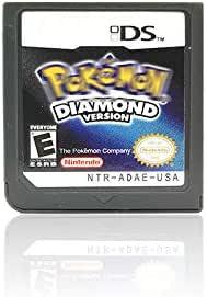 Pokemon 精灵宝可梦 游戏卡 DS 游戏 适用于 3DS NDSi NDS Lite US 版(钻石版)