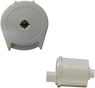 "RollEase R8-1 1/8"" 卷帘离合器 (R8C01) 和端销 (REP01) 套装,自然色"