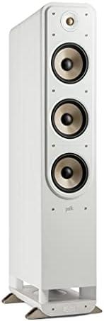 Polk Audio Signature Elite ES60 高分辨率HiFi立式扬声器,适用于家庭影院,Hi-Res认证,兼容 Dolby Atmos 和 DTS:X(件),白色