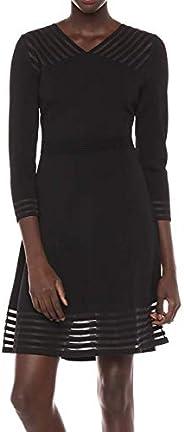 Calvin Klein 卡尔文·克莱恩 女士交错下摆毛衣连衣裙