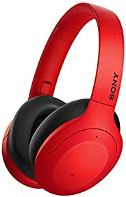 Sony 索尼 WH-H910N 无线高分辨率耳机(降噪,蓝牙,快速连接模式,电池续航时间长达 40 小时,耳机带麦克风用于电话和个人电脑 ) 红色