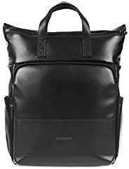 旅行防水背包 学院包 卷顶智能行李箱 适用于 15.6 英寸笔记本电脑 黑色//白色