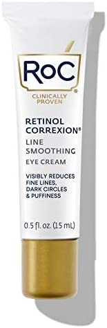 RoC Retinol Correxion 抗衰老眼霜 对抗皱纹、鱼尾纹、黑眼圈和浮肿, 0.5 盎司/15毫升