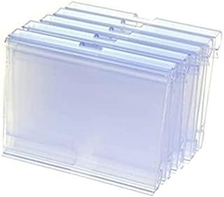 12 件装透明彩色塑料线架价格标签夹标志架显示标签价格卡标签适用于家庭办公室超市货架 3.15 x 1-5/8 英寸