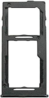 2X 双卡双卡托盘插槽替换件兼容三星 Galaxy A42 5G A426 SM-A426B/DS 6.6 英寸(黑色)