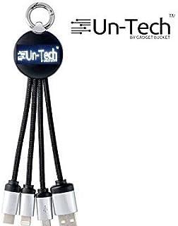 UnTech 三合一充电线,带灯