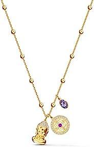 Swarovski 施华洛世奇 Symbolic 吊坠,镀金女士项链,带三个吊坠和闪闪发光的施华洛世奇水晶