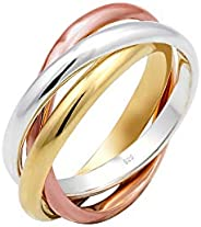 Elli Damen Ring Wickelring Trio Basic Blogger Trend in 925 Sterling Silber