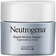 Neutrogena 露得清 快速抗皱修复视黄醇再生抗衰老面霜&玻尿酸;抗皱视黄醇保湿霜&护颈霜,含透明质酸和视黄醇,1.7盎司