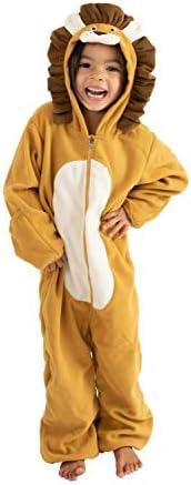 Cuddle Club 抓绒婴儿睡袋连体衣适合新生儿至 4T - 婴儿睡衣冬季夹克外套幼儿服装 狮子 18-24 Month