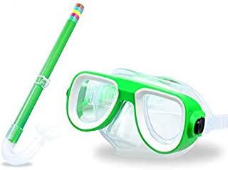 儿童*管套装青少年浮潜装备儿童硅胶水肺潜水浮潜眼镜套装半干*管装备适合4-8岁男孩女孩