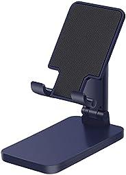 平板电脑支架适用于桌面 多角度手机 Kindle 支架,可折叠可调节桌面支架底座,兼容 iPhone 平板电脑平板电脑平板电脑,手机*大13 英寸深蓝色