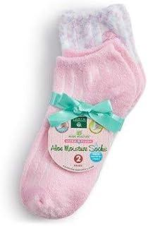 Earth Therapeutics 芦荟水分袜 - 粉红色条纹和五彩纸屑