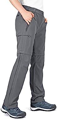 33 英尺(约 10.1 米)女式可转换裤子,速干徒步拉链裤子,弹性轻便工装裤