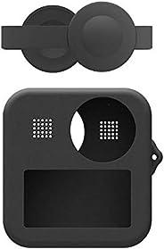 硅胶相机保护套 + 镜头盖 - 专业软相机套 - 硅胶皮肤 - 适用于 GoPro Max 相机机身