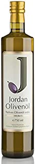 Jordan 原生橄榄油 - 0.75升瓶装,1瓶(1 x 750毫升)