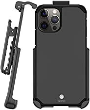 Beltron 手机壳带皮带夹,适用于 iPhone 12、iPhone 12 Pro,超薄全保护重型混合外壳和旋转皮带夹皮套,内置支架,适用于 iPhone 12、iPhone 12 Pro 6.1(金属灰色)