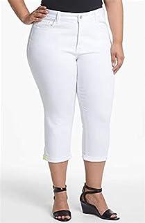 NYDJ 女式 Plus Marilyn 露脐袖口牛仔裤,Cool Embrace 牛仔布