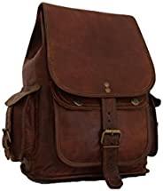 女式/少女背包复古皮革背包,小号 12 英寸皮革手提包